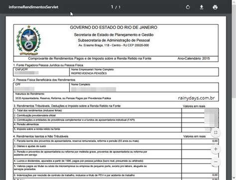 comprovante 2015 de imposto de renda comprovante da aposentadoria para declarao imposto de