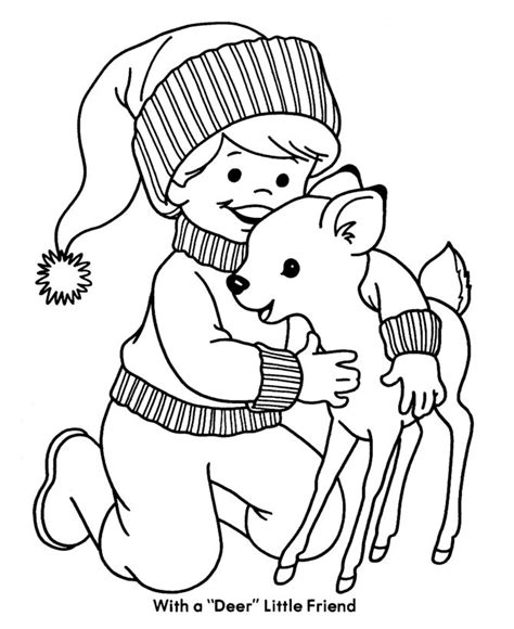 winter deer coloring page 1000 images about christmas and winter coloring pages on