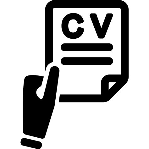 search symbol of a holding cv free interface icons