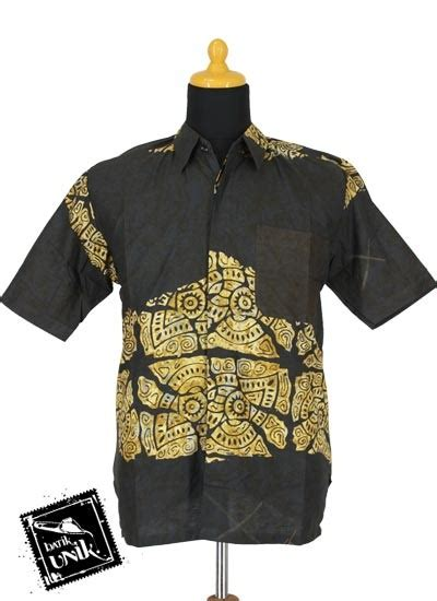 Kemeja Etnik Katun Lengan Panjang baju batik kemeja katun primis cap motif batik abstak etnik obral batik murah batikunik