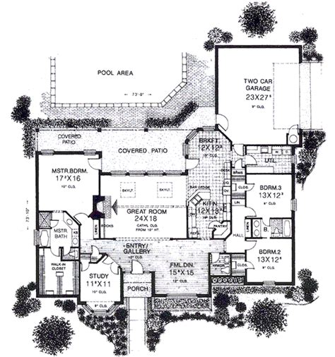 european style floor plans european style house plan 3 beds 2 5 baths 2715 sq ft