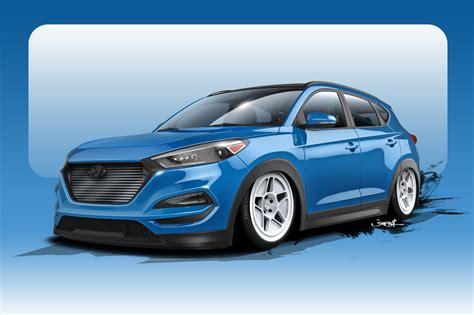 Hyundai Tucson Hp by 700 Hp 2016 Hyundai Tucson Study Kicks Sema Show