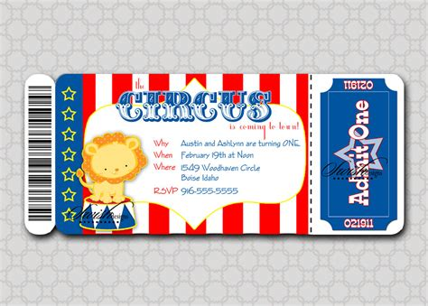 circus ticket template free 6 best images of circus ticket template printable blank