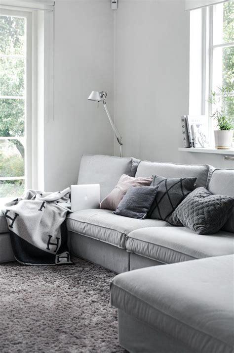 Neutral Living Room Grey Sofa Soffa Ikea Kivik House Of Philia Skapa Hem Soffrum