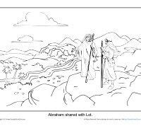 coloring page abraham and lot lot s wife turned into a pillar of salt coloring pages
