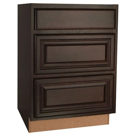 kitchen cabinet glides hton bay 24x34 5x24 in cambria drawer base cabinet