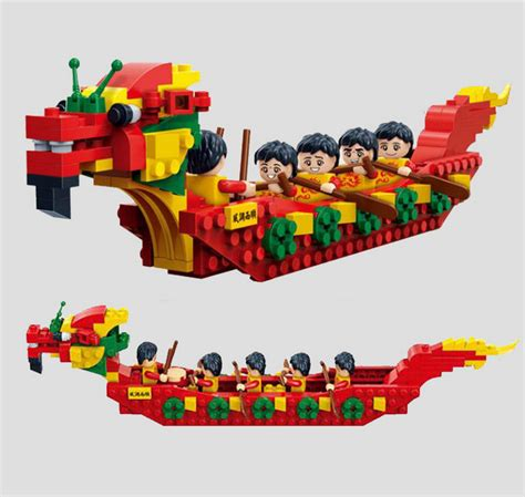 lego compatible dragon boat toys board other games - Dragon Boat Lego