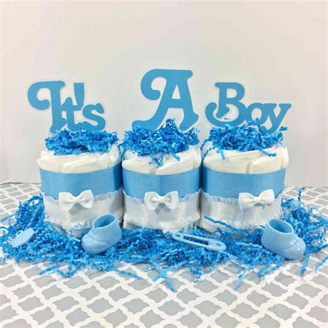 Cake For Baby Shower Centerpiece by It S A Boy Mini Cake Baby Shower Centerpiece Chic