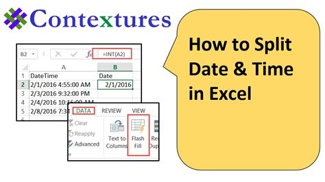 how to date a l by the how to split date and in excel