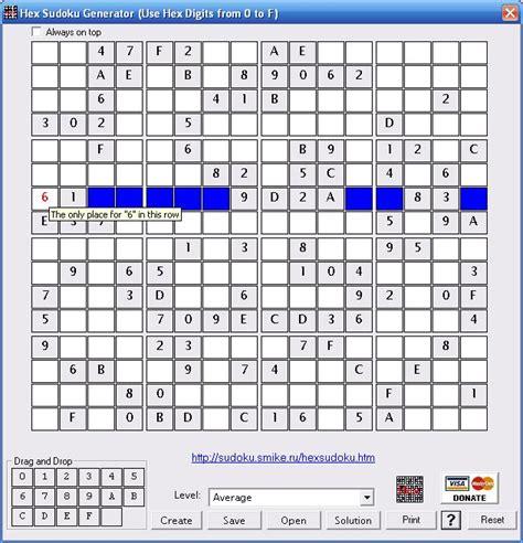 Printable Hexadecimal Sudoku | hex sudoku generator v 3 4 download filedudes