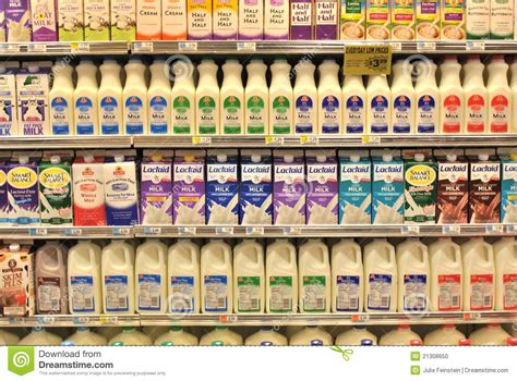 sections in the supermarket dairy section of the supermarket editorial image image