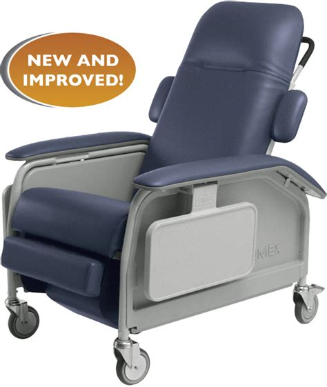 recliner on wheels castle cooper furniture for healthcare seating