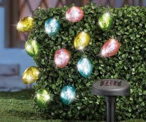 colorful easter solar egg led string lights