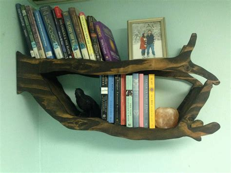 Handmade Bookshelf - handmade tree branch bookshelf for bedroom living room or