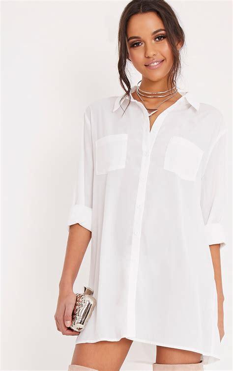 Wst 16612 Frill Collar Shirt shirt dresses s shirt dress prettylittlething