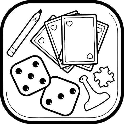 cartoon coloring pages games board object coloring page wecoloringpage