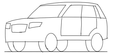 very simple coloring page for boys with car simple car sketch side view sketch coloring page