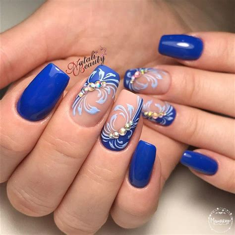 nail fiori passo passo blue nail with blue nails at best 2017 nail designs tips