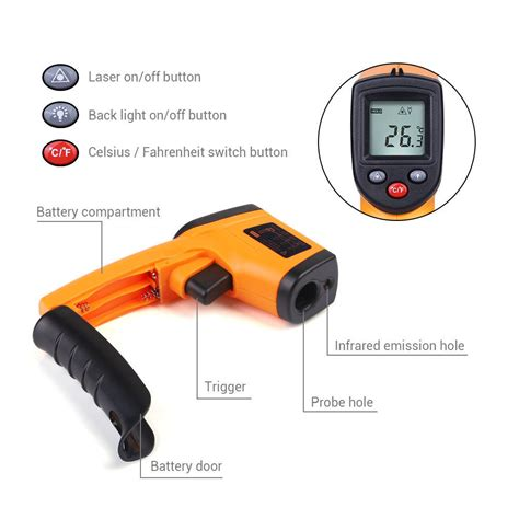 Thermometer Laser Gun digital lcd temperature gun non contact digital laser