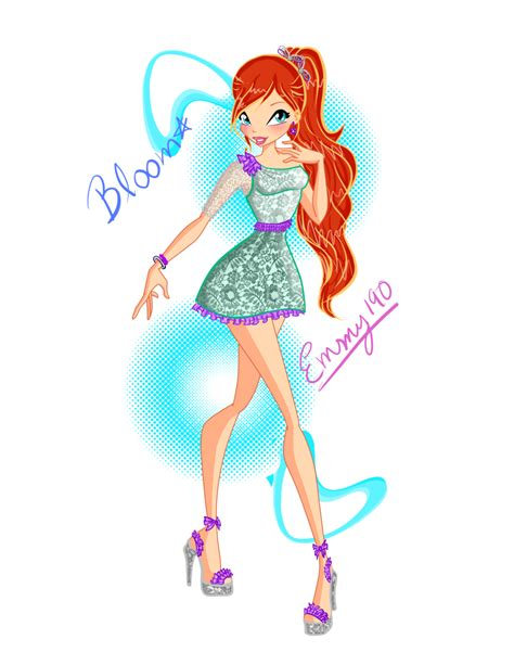 Bloom Dress pin winx club bloom dress characters on