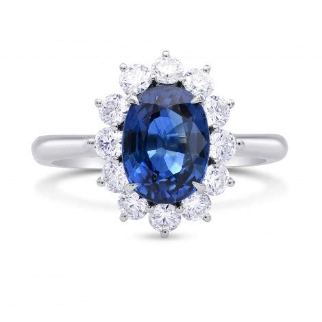 platinum oval sapphire and basket halo ring sku