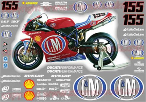 Ducati 916 Sticker by Graphics And Stickers Decals For Ducati Ducati Sponsor Kits