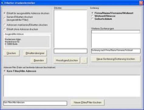 Adressaufkleber Drucken Outlook by Abc Etiketten