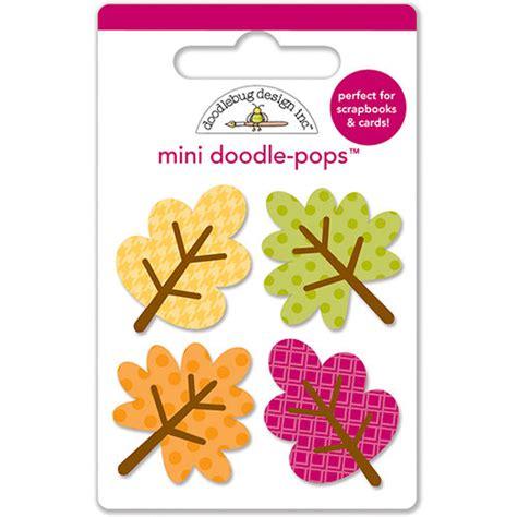 doodlebug friendly forest doodlebug design friendly forest mini leaves 3d