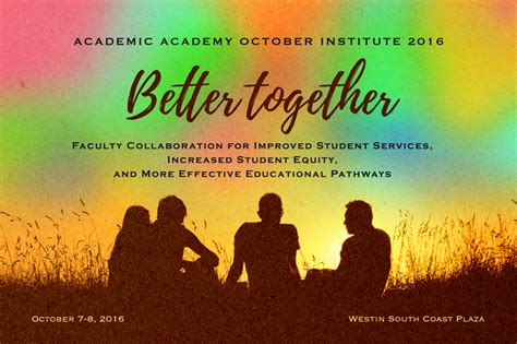 october themed events 2016 academic academy october institute asccc