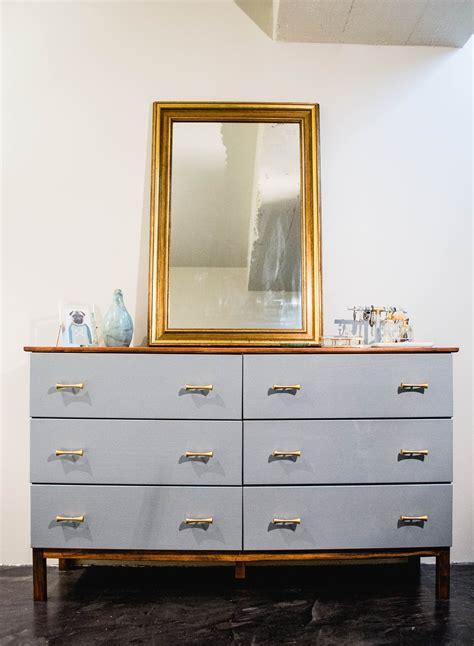 ikea bedroom drawer handles dresser makeover ikea tarva 6 drawer gets a mid century