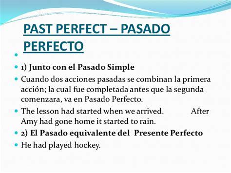 preguntas en pasado perfecto en ingles ejemplos presente y pasado perfecto