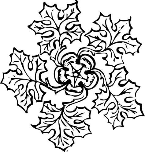 Junjung Drajat Hitam Simetris free vector graphic decorations leaf floral pattern