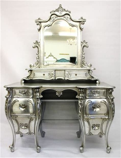 Silver Vanity Table Fabulous Rococo Silver Dressing Table
