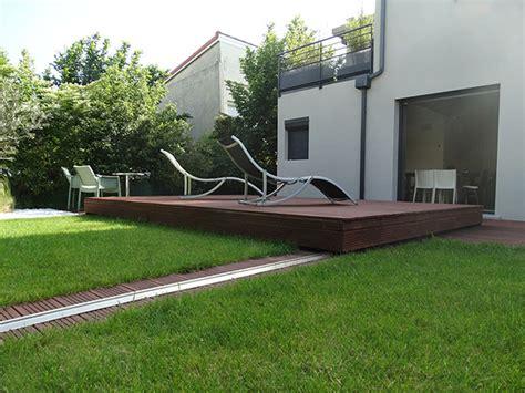 deck design idea  raised wood deck