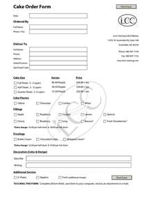 Paper Order Form Template by Cake Order Contract Cake Order Form Template Pdf