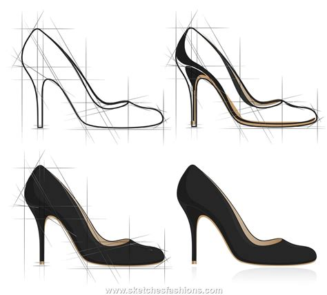 high heel shoe design sketch shoe sketches