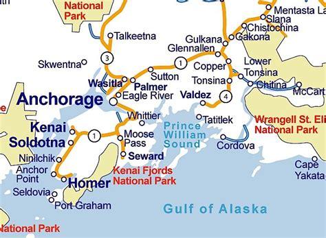 anchorage alaska us map map of alaska