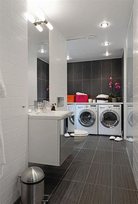 Laundry Room In Bathroom Ideas | integrated bathroom laundry room decor iroonie com