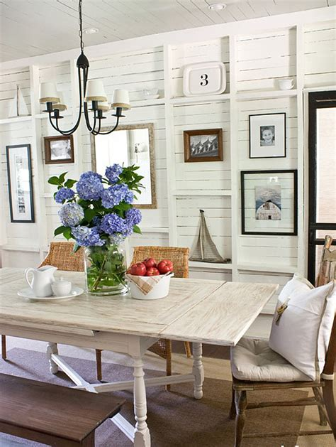 Beachy Dining Rooms by Coastal Home Decorating Coastal Shabby Chic Dining Table
