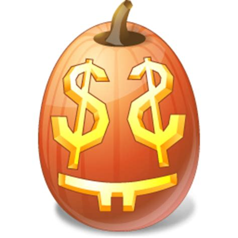 vista style halloween pumpkin face computer icon png