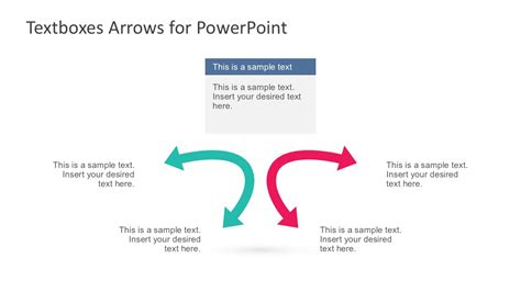 Textboxes And Arrows For Powerpoint Slidemodel Arrows Powerpoint Templates