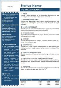 executive business plan template 25 best ideas about executive summary on