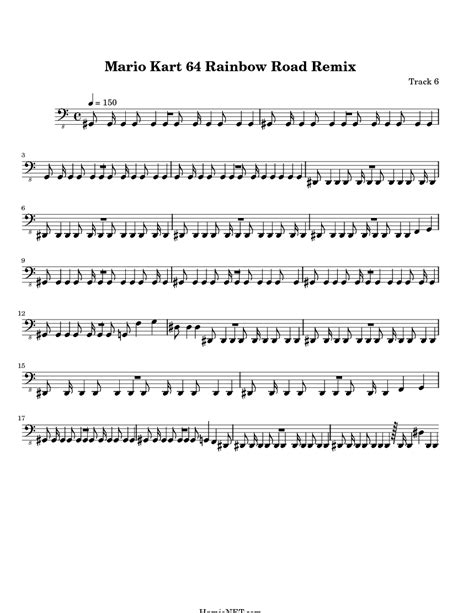 Mario Kart 64 Rainbow Road Remix Sheet Music - Mario Kart