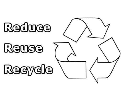 coloring pages for recycle reduce reuse recycle symbol coloring page