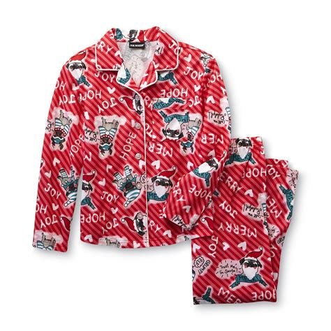 pug pajamas joe boxer s flannel pajamas penguins clothing clothing