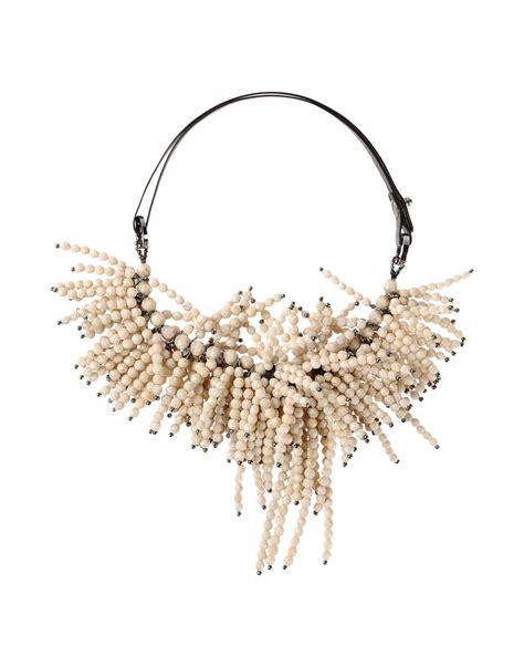 Brunello Cucinelli Necklace brunello cucinelli necklace in white lyst