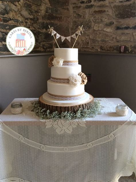 25  best ideas about Wedding cake hessian on Pinterest