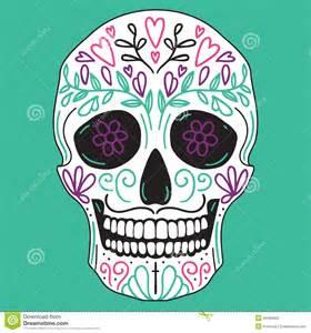 mexican simple sugar skull stock vector image 45450902