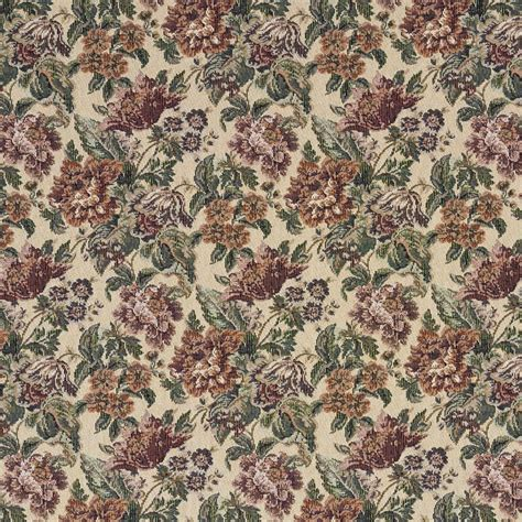 floral upholstery burgundy green and orange floral tapestry upholstery