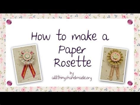 How To Make Paper Rosettes - how to make a paper rosette